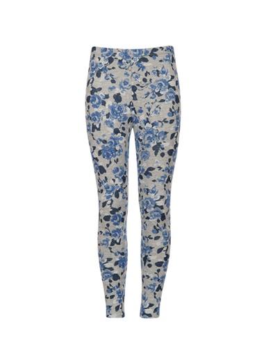 Mädchen Leggings mit Blumen Größe: 104 Material: 47 % Baumwolle, 47 % Polyester, 6 % Elastan Farbe: grau-melange