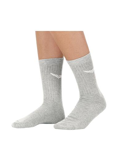 Herren Sportsocken im Doppelpack Größe: 35-38 Material: 90 % Baumwolle, 10 % Polyamid Farbe: grau-melange
