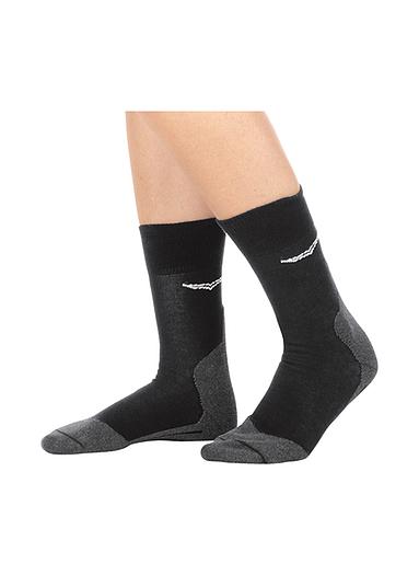 Damen Sportsocken mit Silberanteil Größe: 36-38 Material: 100 % Baumwolle, Ringgarn supergekämmt Farbe: schwarz