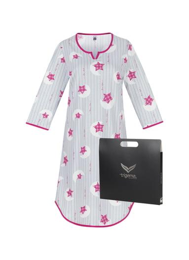 Damen Geschenk-Set Nachthemd mit Sternen Größe: XL Material: Farbe: cool-grey