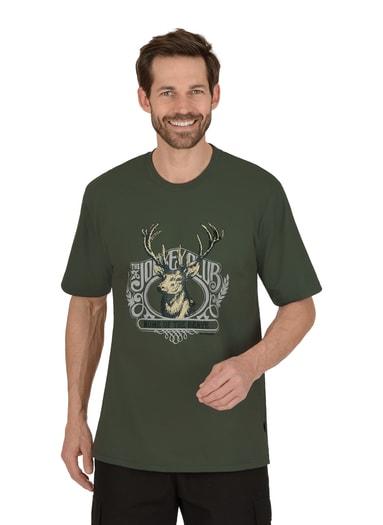 Herren T-Shirt mit Hirsch Größe: L Material: 100 % Baumwolle, Ringgarn supergekämmt Farbe: khaki
