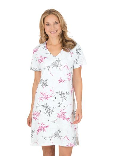 Damen Nachthemd Nature Größe: M Material: 100 % Baumwolle, Ringgarn supergekämmt Farbe: weiss