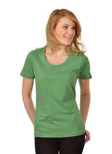 Damen T-Shirt aus Biobaumwolle Größe: L Material: 100 % BIO-Baumwolle, Ringgarn supergekämmt KbA Farbe: farn-C2C