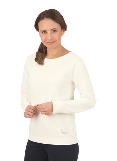 Damen Pullover mit Swarovski® Kristallen Größe: L Material: 55 % Polyester, 45 % Baumwolle Farbe: natur