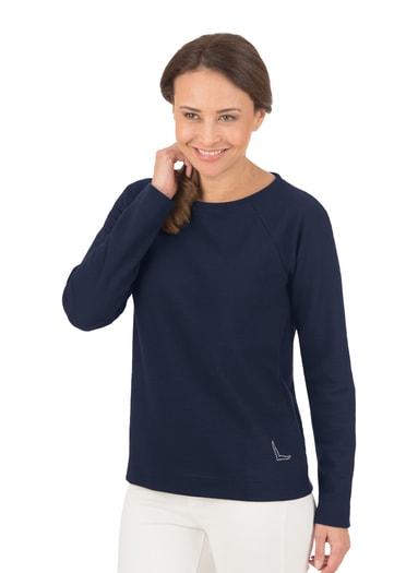 Damen Pullover mit Swarovski® Kristallen Größe: L Material: 55 % Polyester, 45 % Baumwolle Farbe: navy