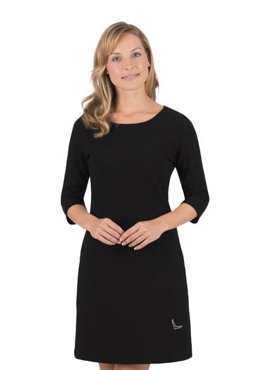 Damen Kleid mit Swarovski® Kristallen Größe: L Material: 55 % Polyester, 45 % Baumwolle Farbe: schwarz