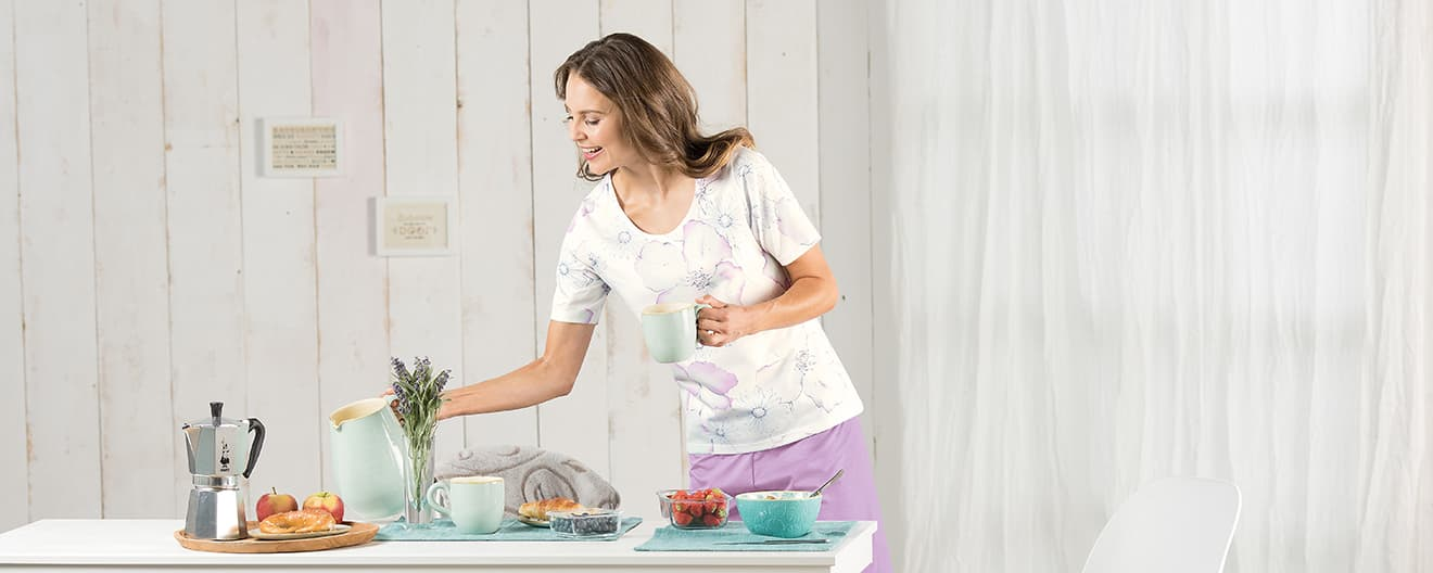 57287c65326cd6 Schlafanzug, Pyjama, Nachthemden & Nachtwäsche für Damen | TRIGEMA