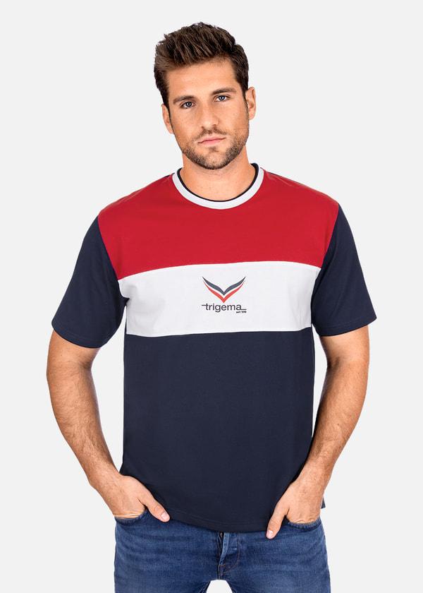 790527730e4641 Hochwertiges und modernes T-Shirt in bester TRIGEMA Qualität. Zum  100-jährigen Jubiläum von TRIGEMA haben wir unser Logo modisch und dezent  auf der ...