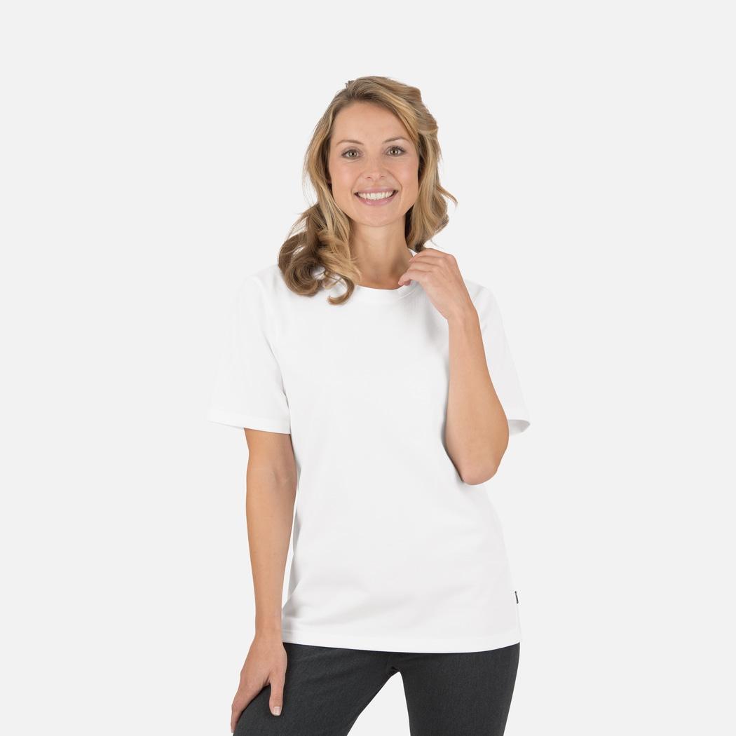 T-Shirt in Piqué-Qualität weiss   L   TRIGEMA