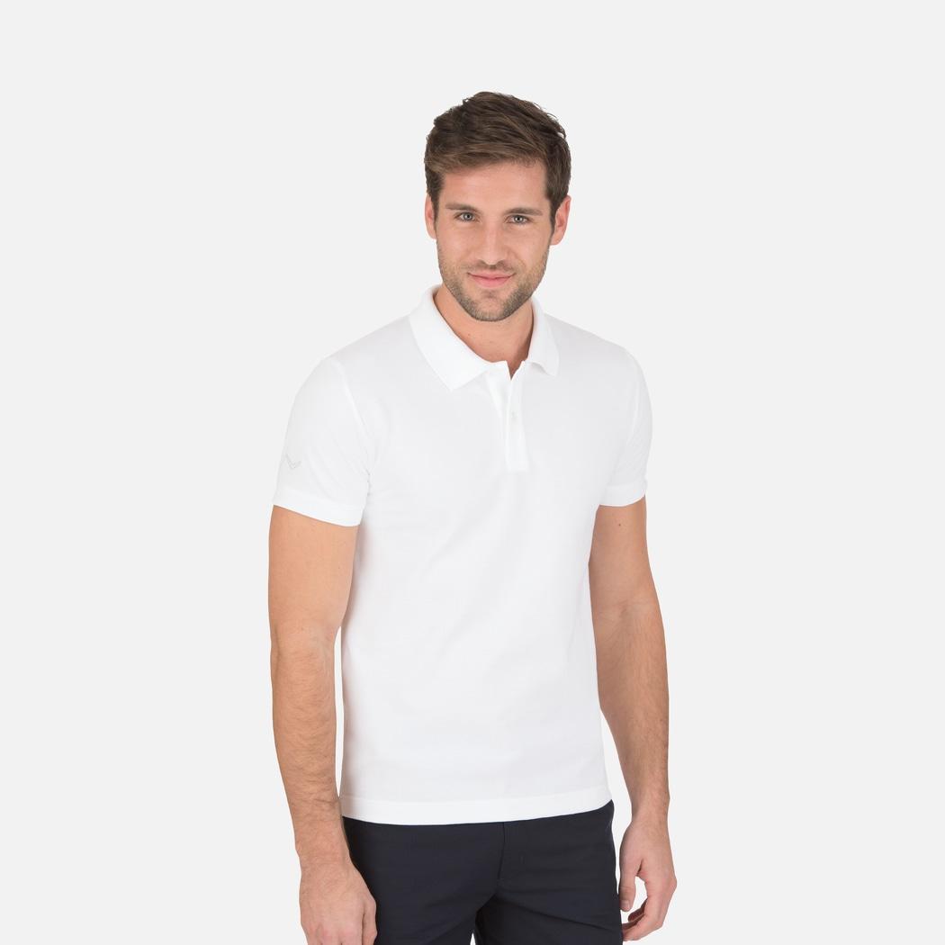 Poloshirt Slim-Fit Weiss