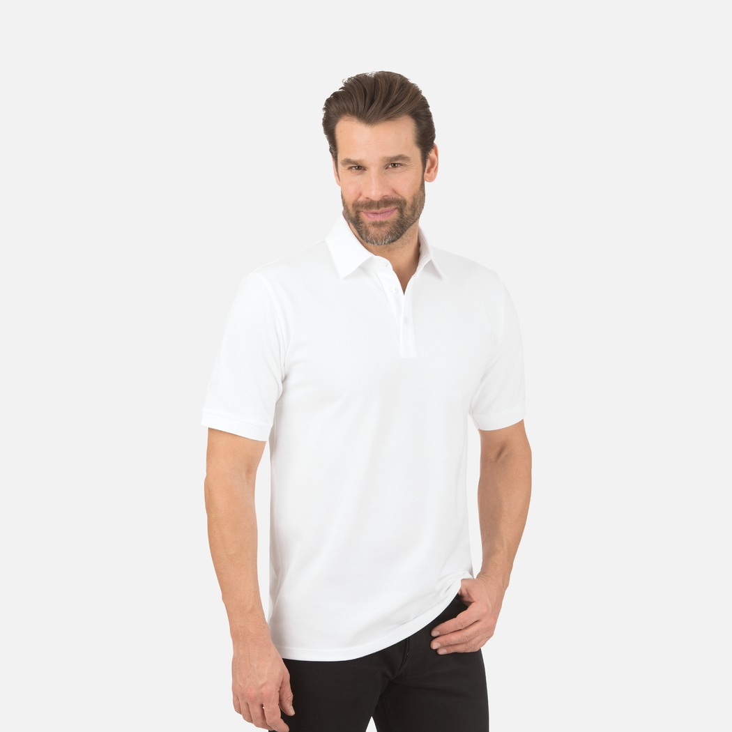 Business Polo Shirt White L Trigema 100 Made In Germany