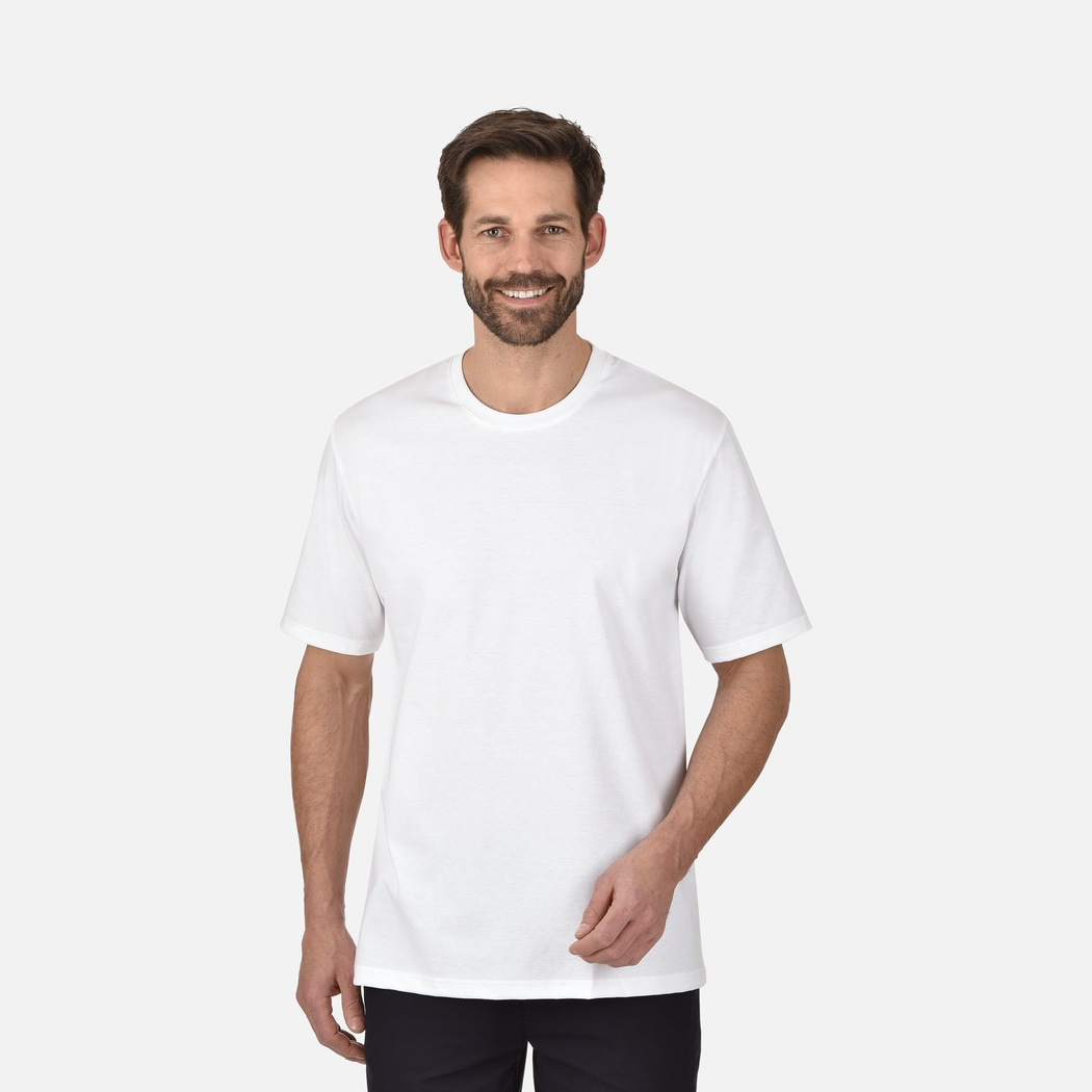 ddbe17396ae58b T-Shirt DELUXE Baumwolle weiss