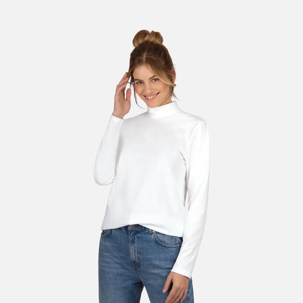 langarm shirt mit stehkragen weiss l trigema. Black Bedroom Furniture Sets. Home Design Ideas