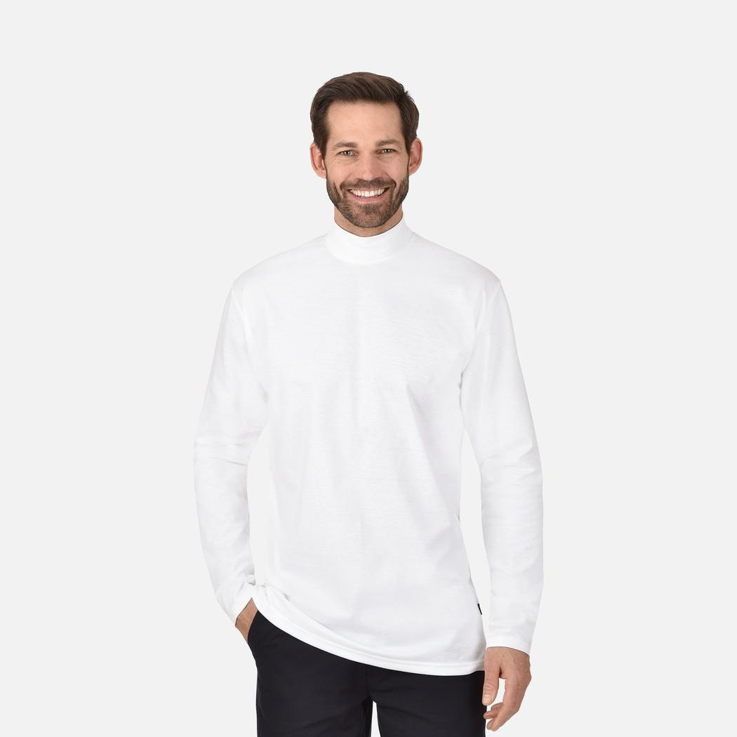 d573b7710f Langarm Shirt mit Stehkragen weiss | L | TRIGEMA