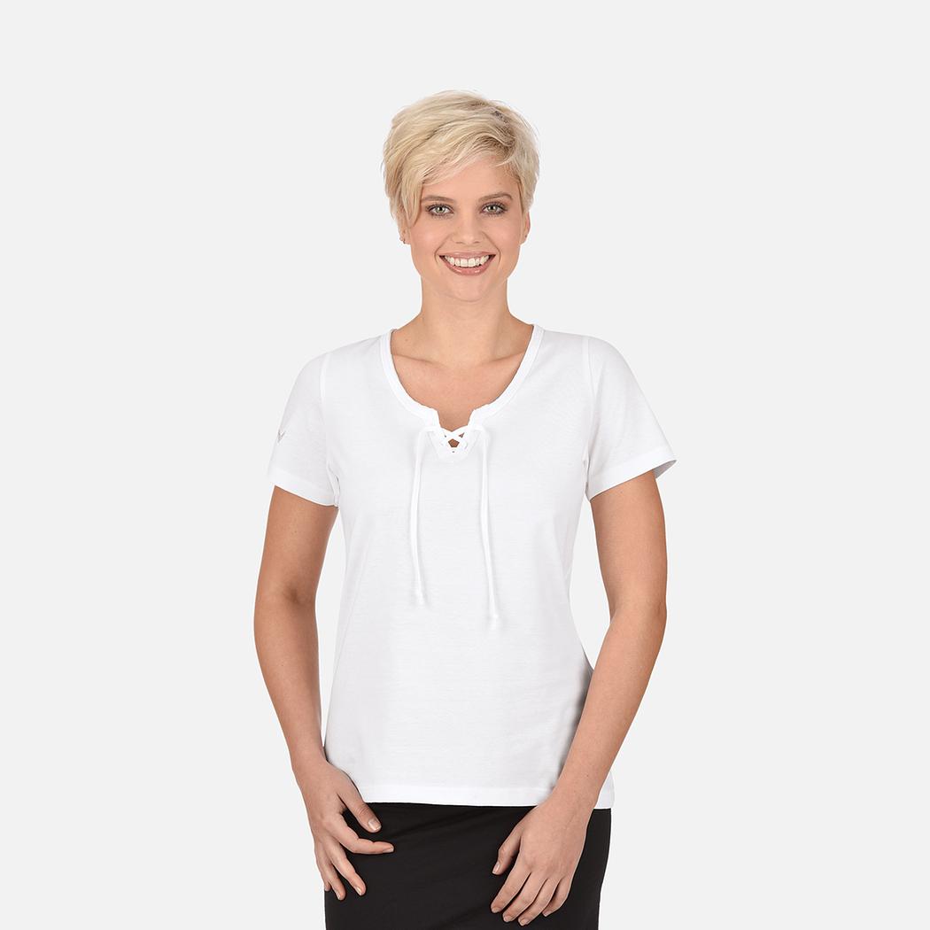 shirt mit schn rung biobaumwolle weiss c2c l trigema. Black Bedroom Furniture Sets. Home Design Ideas