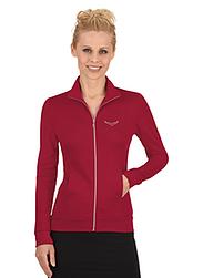 Trigema Damen Jacke mit Swarovski® Kristallen Rubin