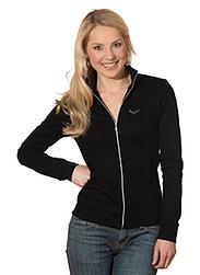 Trigema Damen Jacke mit Swarovski® Kristallen Schwarz