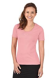Trigema Damen T-Shirt mit Swarovski® Kristallen Puder