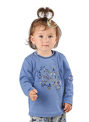 Trigema Kids Shirt Flower Print