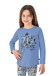 Trigema Kinder Shirt Blumenprint