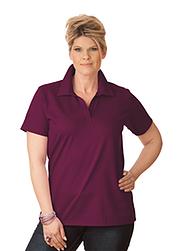 Trigema Damen Polo-Shirt ohne Knopfleiste