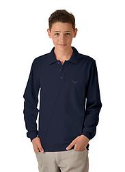 Trigema Kids Long Sleeve Polo-Shirt