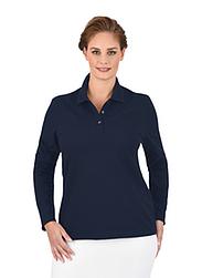 Trigema Damen Langarm Poloshirt