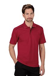 Trigema Herren Polo-Shirt 100% Biobaumwolle Rubin-C2C