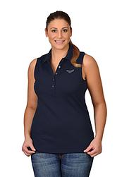 Trigema Damen Polo-Shirt mit Swarovski® Kristallen