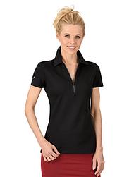 Trigema Damen Poloshirt mit Swarovski® Kristallen Schwarz