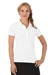 Trigema Damen Polo-Shirt mit Swarovski® Kristallen Weiss
