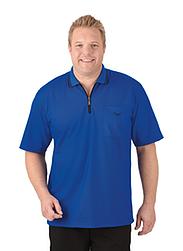 Trigema Herren Poloshirt mit Reißverschluss