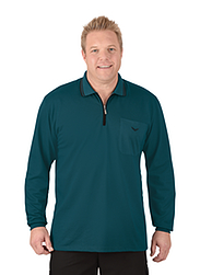 Trigema Herren Langarm Polo-Shirt