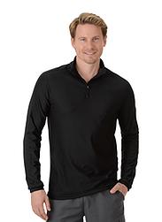 Trigema Herren Langarm Sport-Shirt Schwarz