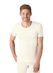 Trigema Herren T-Shirt Merinowolle Natur