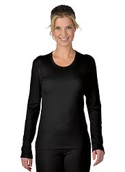 Trigema Damen Sport-Shirt Merinowolle Schwarz