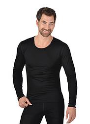 Trigema Herren Sport-Shirt Merinowolle Schwarz