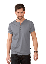 Trigema Men T-Shirt with Placket