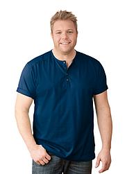 Trigema Herren T-Shirt mit Knopfleiste
