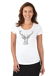Damen Kollektion T-Shirt Hirsch