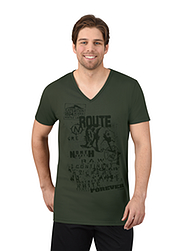Trigema Men T-Shirt Route