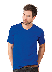 Trigema Men V-Neck Shirt DELUXE Cotton