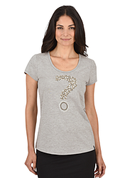 Damen Kollektion T-Shirt Fragezeichen
