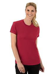 Trigema Damen T-Shirt 100% Biobaumwolle Rubin-C2C