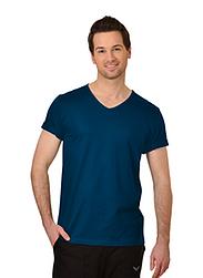 Trigema Herren V-Shirt 100% Biobaumwolle Saphir-C2C