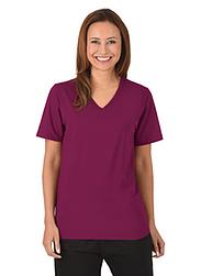 Trigema Damen V-Shirt 100% Biobaumwolle Sangria-C2C
