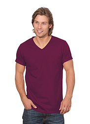 Trigema Herren V-Shirt 100% Biobaumwolle Sangria-C2C