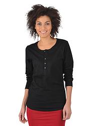 Trigema Damen Langarm Shirt Biobaumwolle Schwarz-C2C