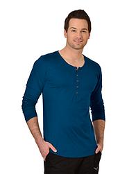 Trigema Herren Langarm Shirt Biobaumwolle Saphir-C2C