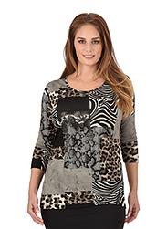 Trigema Damen Shirt Animal-Print
